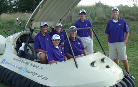 Golf team sees hovercraft
