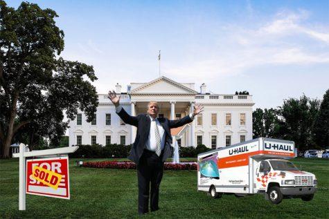 Trump moves in