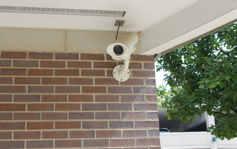 Security camera outside of the Schaeper Center