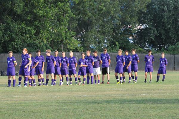Elder soccer team prior to their game versus Fairfield.
