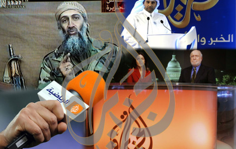 Osama bin Laden's videos from caves were broadcast by the Al Jazeera network throughout the war in Afghanistan. Al Jazeera is based in Qatar, and now it's in America.