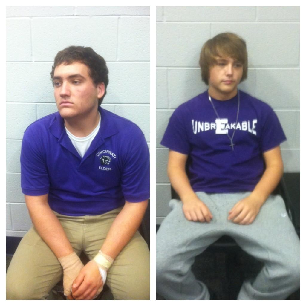 A side-by-side of the everyday uniform at Elder high school, and the
