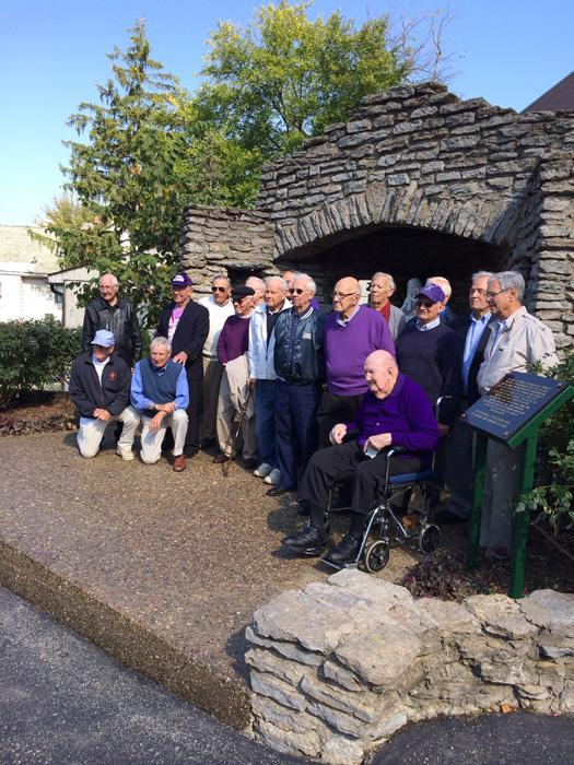 Class of 1950, creators of  the grotto gather for their reunion