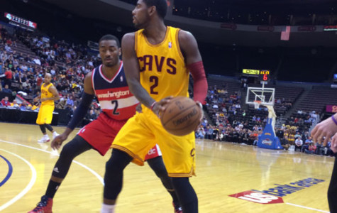 John Wall guarding Kyrie Irving