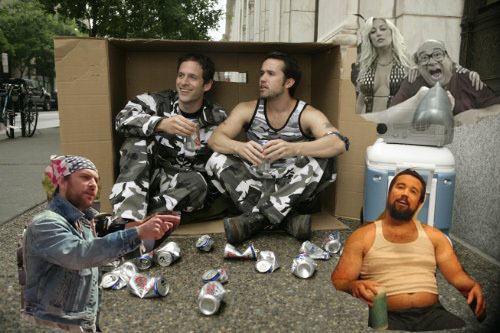 Photoshop edit of the main characters of the FXX Netwroks show It's Always Sunny in Philadelphia.