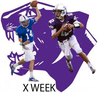 Elder quarterback Peyton Ramsey (right) and St. Xaviers quarterback Nick Tensing (left)