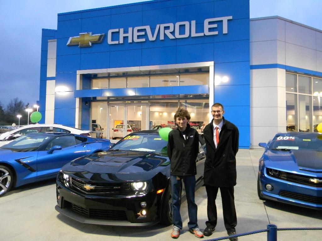 Nick+Feldman%2C+and+John+Merk+besides+the+new+Chevrolet+Camaro+at+Joseph+Chevrolet+
