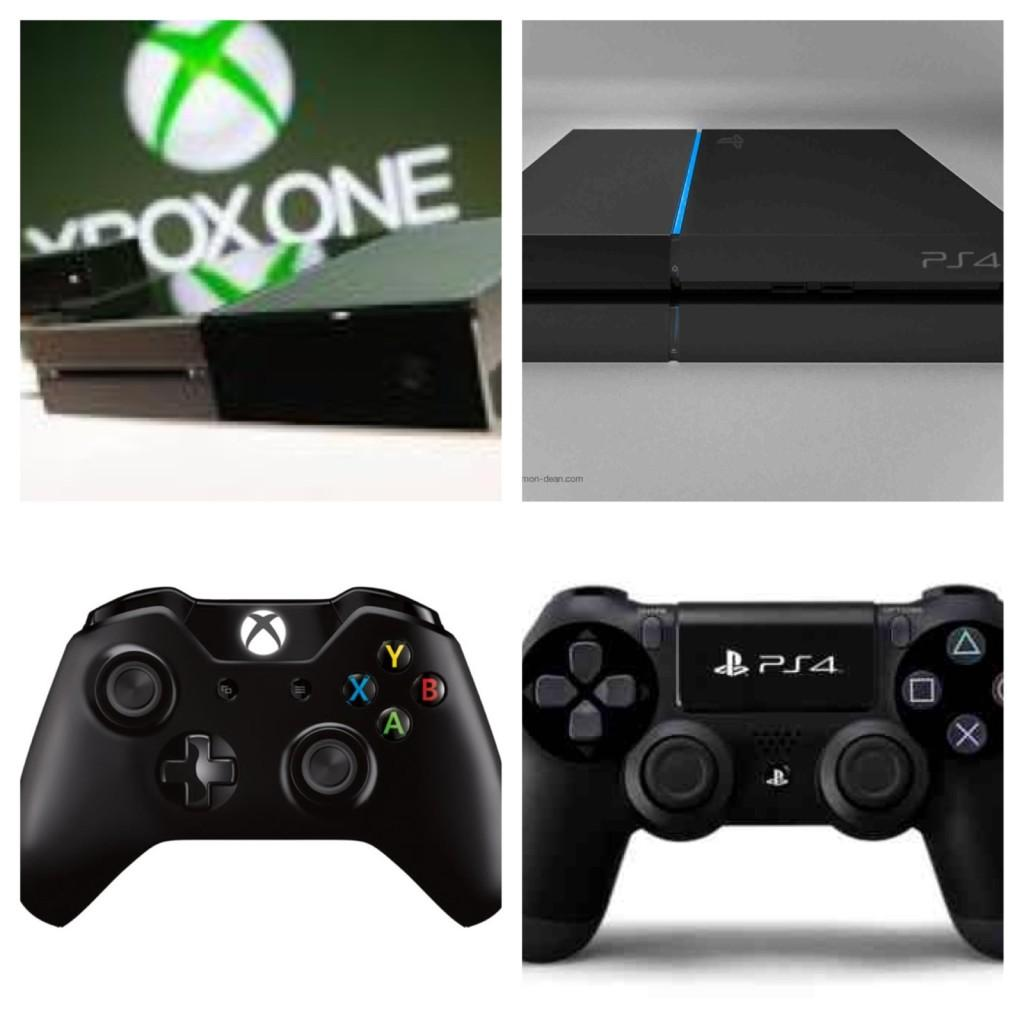 Both of the consoles and their respected new designs for the controllers