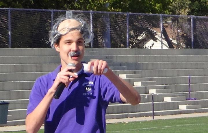 Senior Zach Goodwin has a penchant for imitating his teachers, especially mr. Dabbelt.