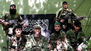 Doku Umarov (center) is the leader of the Caucasus Emirate terrorist group.