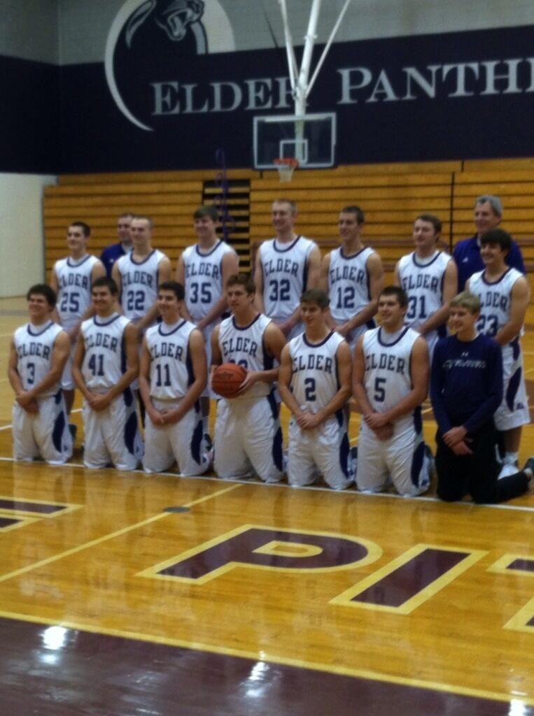 The+Elder+Panther+varsity+basketball+team%2C+2013-2014