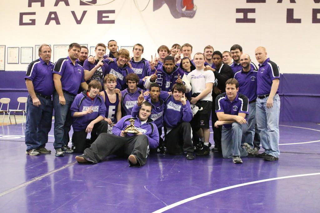Elder Wrestling team after winning the 9th Annual Elder Duals.