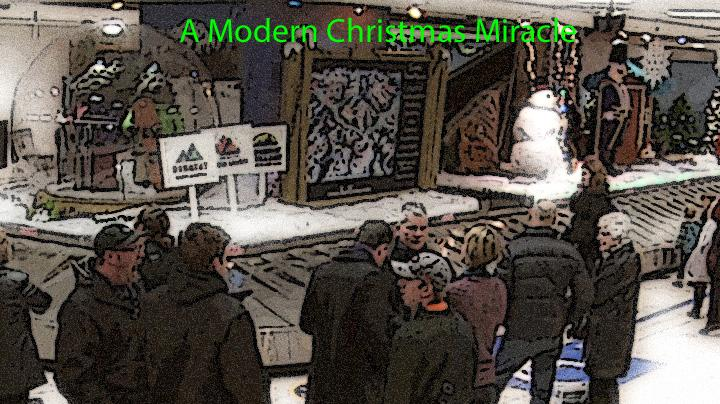 The passengers await to receive their bags when unexpectedly receive a Christmas Miracle