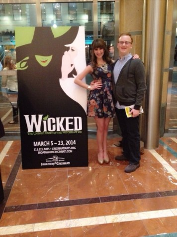A friend and me in the lobby of the Aronoff Center to see Wicked
