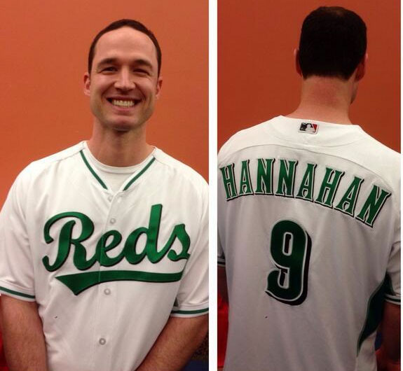 These are the new jerseys that the Reds will be wearing on March 17th against the Indians.