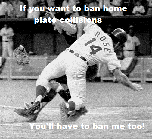 Pete won't stand for MLB's new home plate rule
