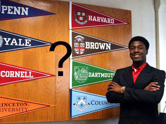 Kwasi Enin is faced with a difficult question of which Ivy League school to attend