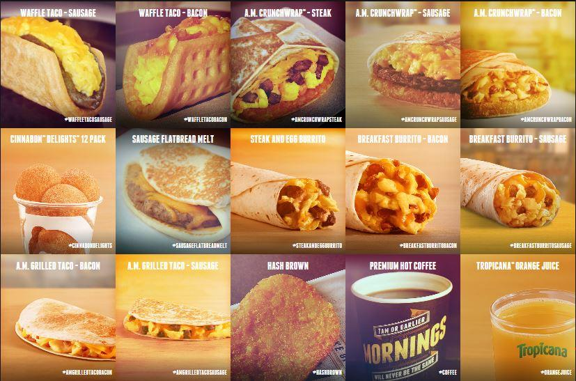Taco Bell is ringing loud with its new breakfast menu; challenging established McDonald's.