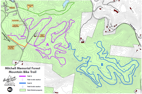 Mitchell Memorial Forest Bike Trail Map