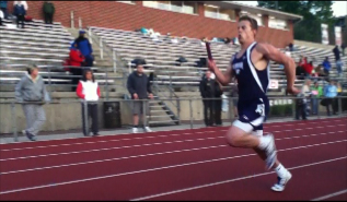 Junior Nick Pangallo anchors the 4x400 relay team to victory and the points needed for Elder to win the GCL track championship for the first time since 2009!