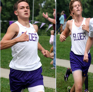 Eric Huff and Michael Huschart: The faces of Elder cross country
