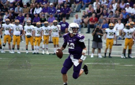Quarterback Peyton Ramsey looks for an open receiver. He had a career high 274 yards and a rushing touchdown in Elder's big upset win