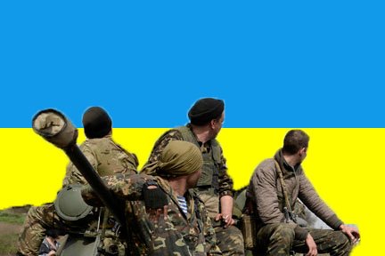 ukraine soldiers flag