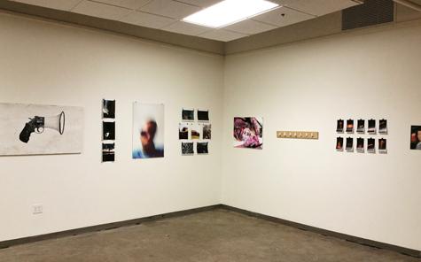 Art work from Elder students hung at the Art Academy of Cincinnati