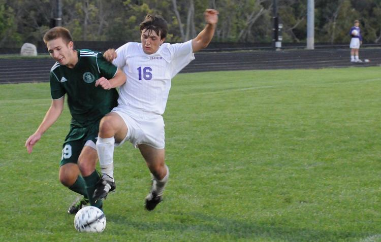 Elder+Junior+Joey+Sabato+%28shown+here+in+action+from+2013%29+was+named+GCL-South+Player+of+the+Year+in+soccer.