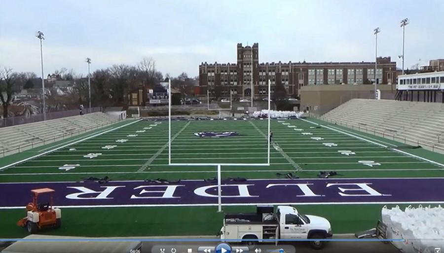 Shot+from+the+far+end+of+the+pit+featuring+new+purple+end+zones+and+all+new+turf.