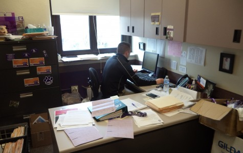 Mr. Owens soaking in the last few days in his current office, until his move to his revamped office.