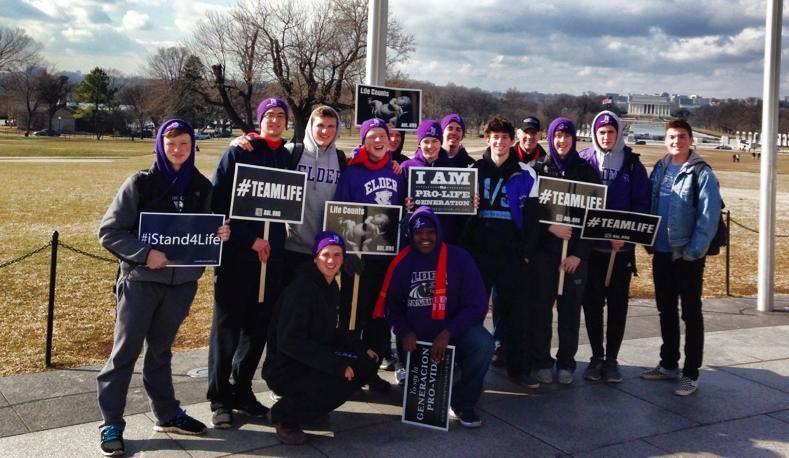 Elder students join thousands at March for Life