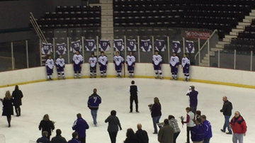 Hockey seniors honored