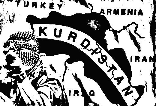 Kurdistan lies between Syria, Iraq, Turkey, and Iran.