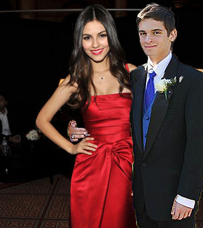 Purple Quill editor Nikola Rackers with Victoria Justice at Prom 2k14