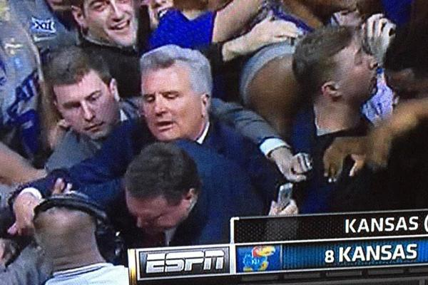 This one picture can summarize the chaos following the game between Kansas and Kansas State