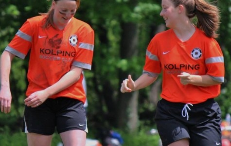 Kelsie Crow, right, played for the Kolping United Soccer Club.