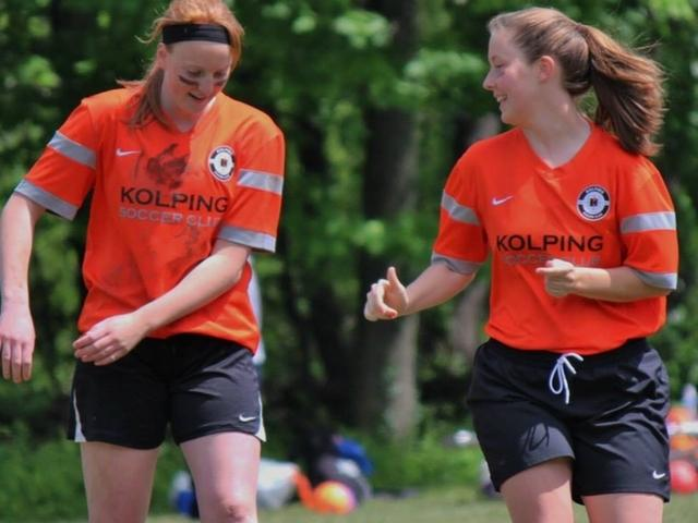Kelsie+Crow%2C+right%2C+played+for+the+Kolping+United+Soccer+Club.+