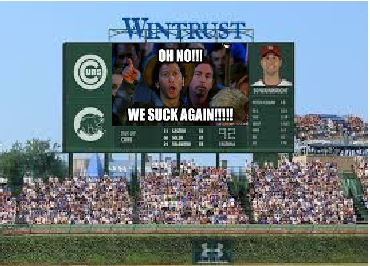 The new Jumbotron helps describe the feelings of every fan sporting Cubbie blue