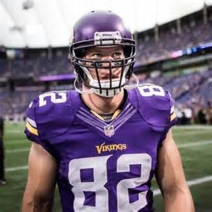 Kyle Rudolph after a Vikings' touchdown.