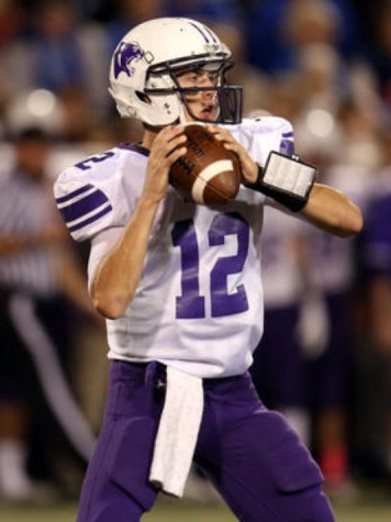 Elder quarterback Peyton Ramsey looking for an open receiver.