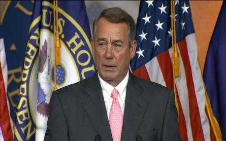 John Boehner announces his resignation from Congress.