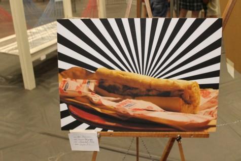 Piece by Alex Masturserio in last year's art show