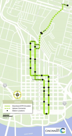 Downtown-to-Uptown-Cincinnati-Streetcar-Route