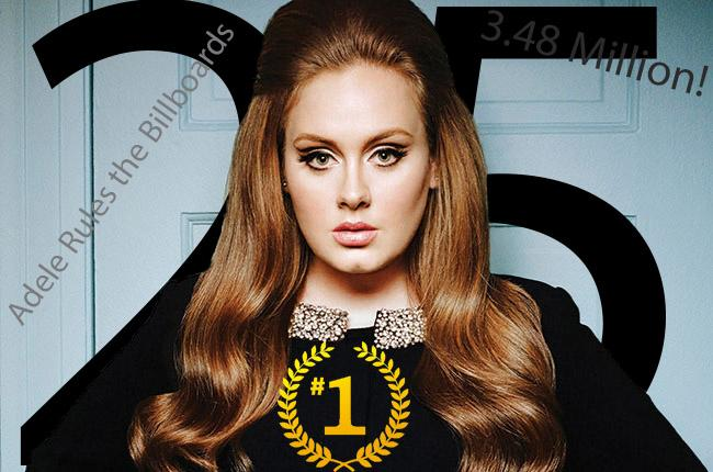Adele rules the charts
