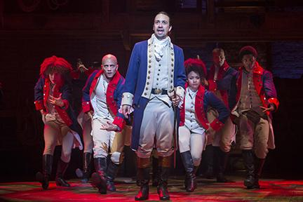 Lin-Manuel Miranda in the title role of the musical