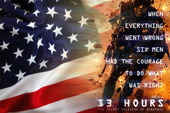 The Movie 13 Hours depicts the true story of the real Americans during the attack on Benghazi