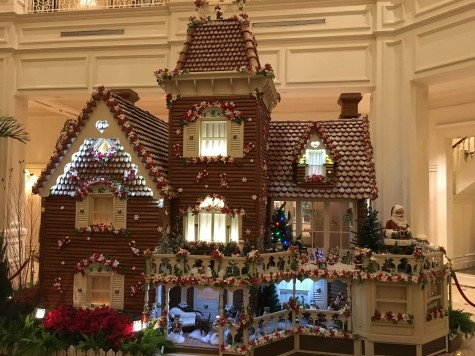 The giant edible Ginger bread house at The Grand Floridian