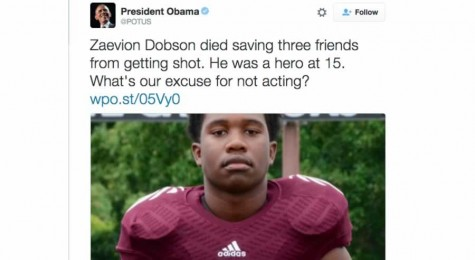 Obama tweets out about Dobson's death