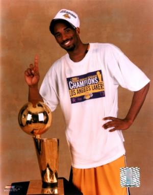 Kobe's third consecutive title wearing No. 8